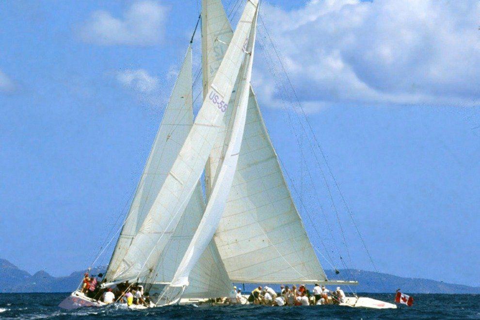 America's Cup Yacht Racing – St. Maarten 12 Metre Challenge
